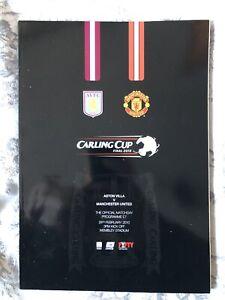 2010 Aston Villa v Manchester United League Cup Final Football Programme