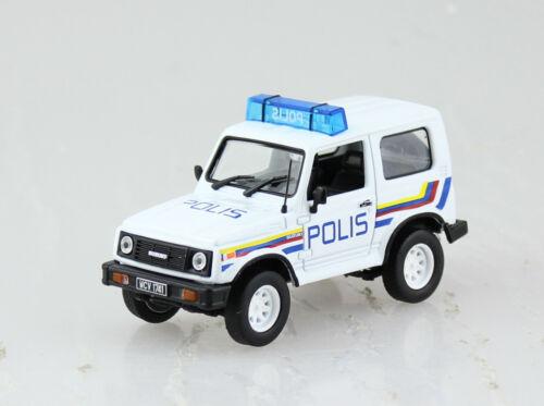 Suzuki Samurai Polizei 1989 Blister 1:43 Altaya Modellauto