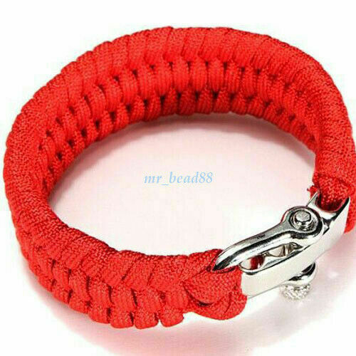 Survival Paracord Bracelet Camo Wristband Hunting Camping Hiking Emergency Rope
