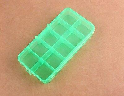 Plastic 10 Slots Adjustable Jewelry Storage Box Case Craft Beads Storage Box 1pc