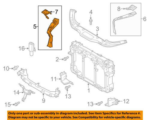 MAZDA OEM 13-16 CX-5 Radiator Support-Side Panel Right KD5353140