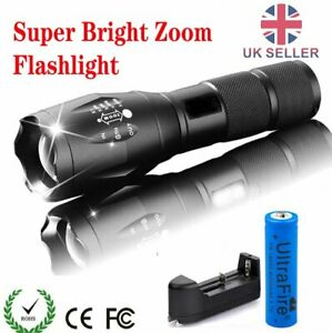 Ultrafire Flashlight 18650 Light 20000LM Zoomable T6 LED Super Bright Lamp Torch