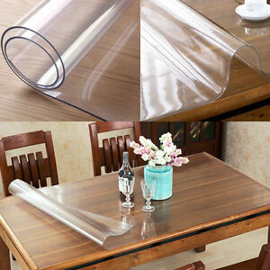 yazi pvc clear tablecloth waterproof table protector kitchen