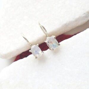 Mondstein-oval-schlicht-Design-Haenger-Ohrringe-Ohrhaenger-925-Sterling-Silber-neu