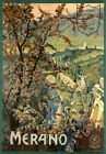 """Vintage Illustrated Travel Poster CANVAS PRINT Merano italy 24""""X16"""""""