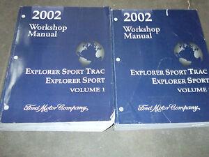 2002 ford explorer sport trac service shop repair manual set factory rh ebay com 2002 ford explorer xlt repair manual 2002 ford explorer repair manual