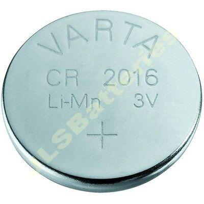 5 X Varta Lithium Batteries Cr2016 Cr 2016 Dl2016 Kcr2016