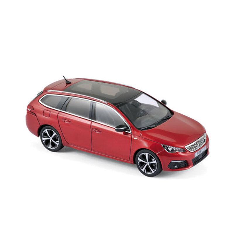 NOREV 473817 PEUGEOT 308 SW GT Rouge 2017 échelle 1 43 Voiture Miniature Neuf  °