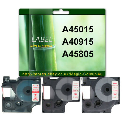 Compatible Dymo D1 tapes 9mm 12mm 19mm combination 45010 45013 40910 40913