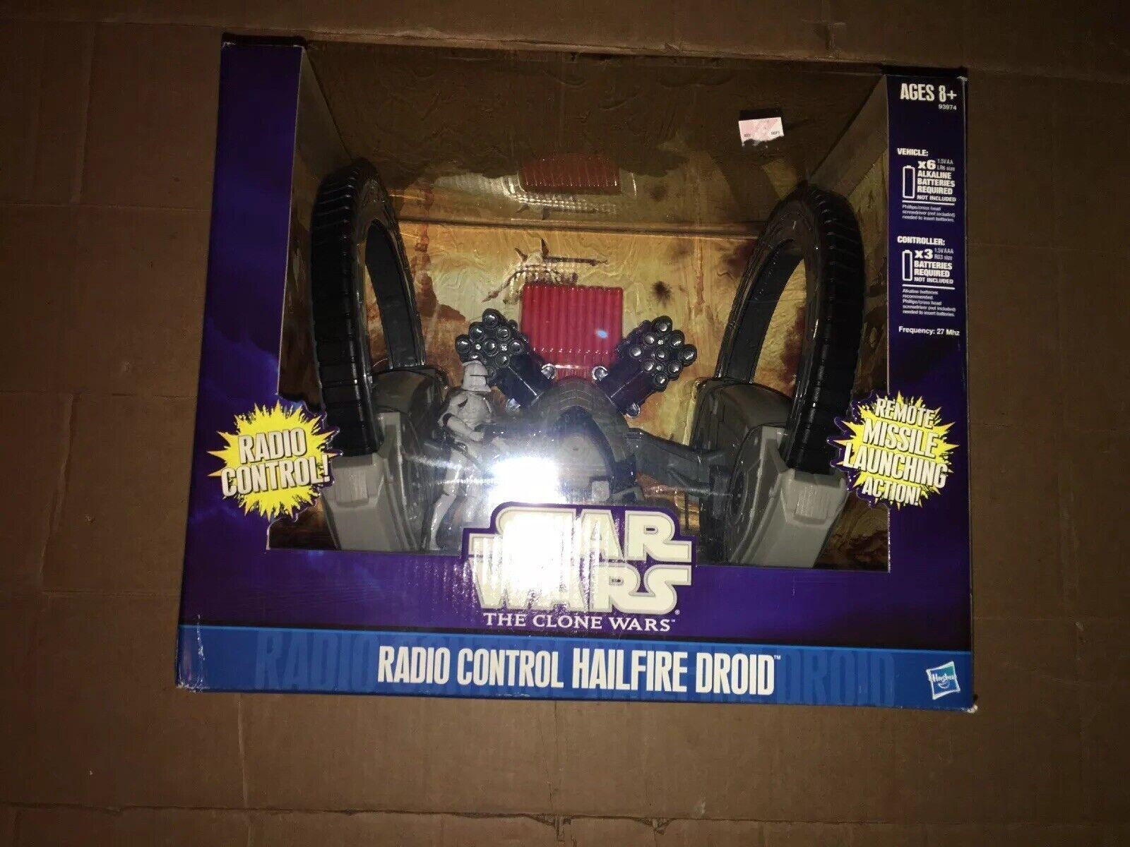 100% autentico Estrella Wars Clone Wars Radio Control Control Control Hailfire Droid Nuevo Control Remoto lanzamiento de misiles  estilo clásico