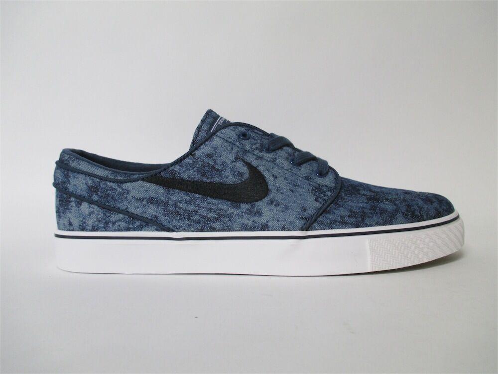 Nike SB Stefan Janoski Canvas Squadron Blue 705190-401 Black White Sz 10 705190-401 Blue 3ccd00