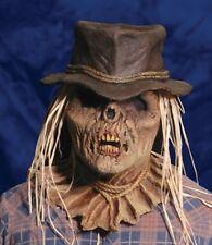 Halloween LifeSize Costume ZOMBIE SCARECROW LATEX DELUXE MASK Haunted House NEW