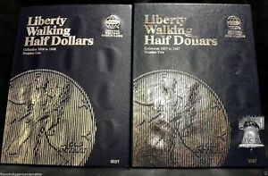 Whitman Used Empty Coin Album-Liberty Walking Half Dollar 1941-1947 #9424