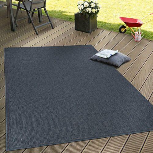 Bleu Marine Tapis Rond Jardin Extérieur Tapis Small X Large Flat Tissé Patios Mat