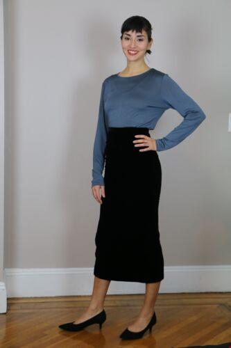 OMO NORMA KAMALI Vintage Black Velvet Skirt, Size