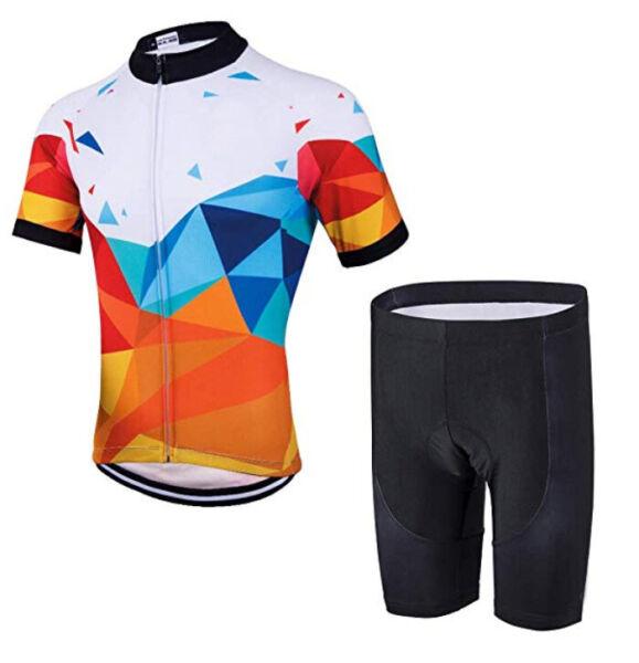 2019 Moda Uomo Cycling Set 2019 Maglia A Maniche Corte Pantaloni Salopette Cuscino Ruota Bicicletta Rinvigorire Efficacemente La Salute