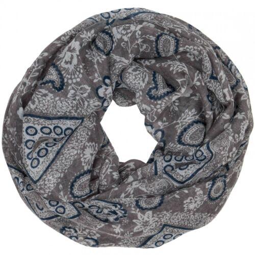 CASPAR Damen Vintage Stil Loop Schal Schlauchschal Rundschal Paisley Print NEU