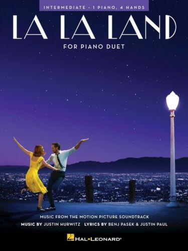 LA LA LAND MOVIE PIANO DUET INTERMEDIATE LEVEL SHEET MUSIC SONG BOOK