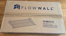 2 Pack Flow Wall 24 In X 12 In Metal Bracket Shelf Silver Fss Mb2412 2s