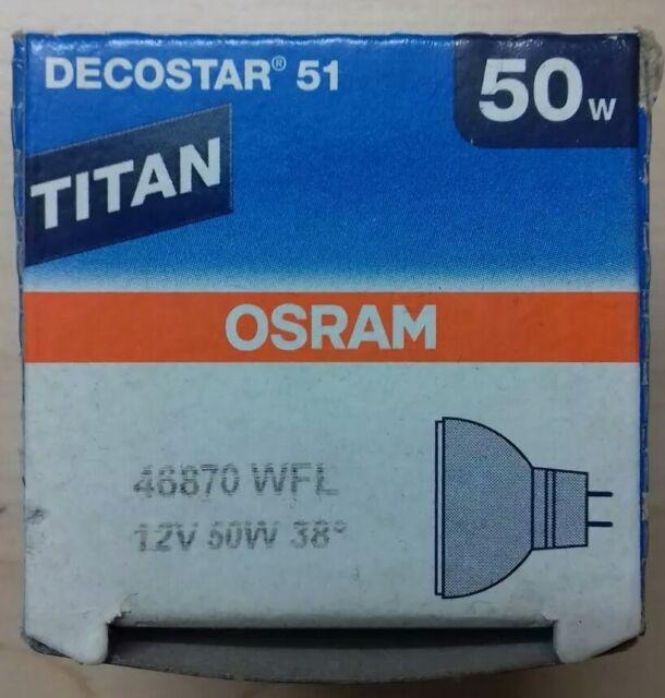 Osram Halogenlampe Decostar 51 Titan 12V 50W 38° 46870WFL