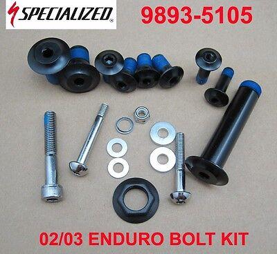 Specialized Frame Bolt Kit SBC Enduro 02-03 New 9893-5105