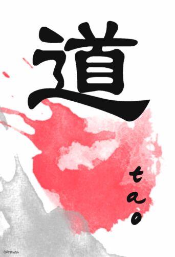 "13/""×19/"" Inspirational Motivational Poster TAO Japanese Character Buddhism GOD"