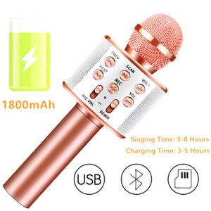 Wireless-Karaoke-Handheld-Microphone-USB-Player-Bluetooth-Mic-Speaker-KTV-WS858
