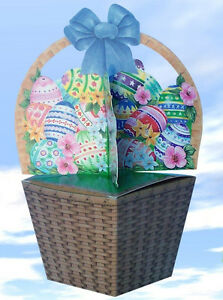 Easter basket gift box wrapping paper ebay image is loading easter basket gift box wrapping paper negle Choice Image