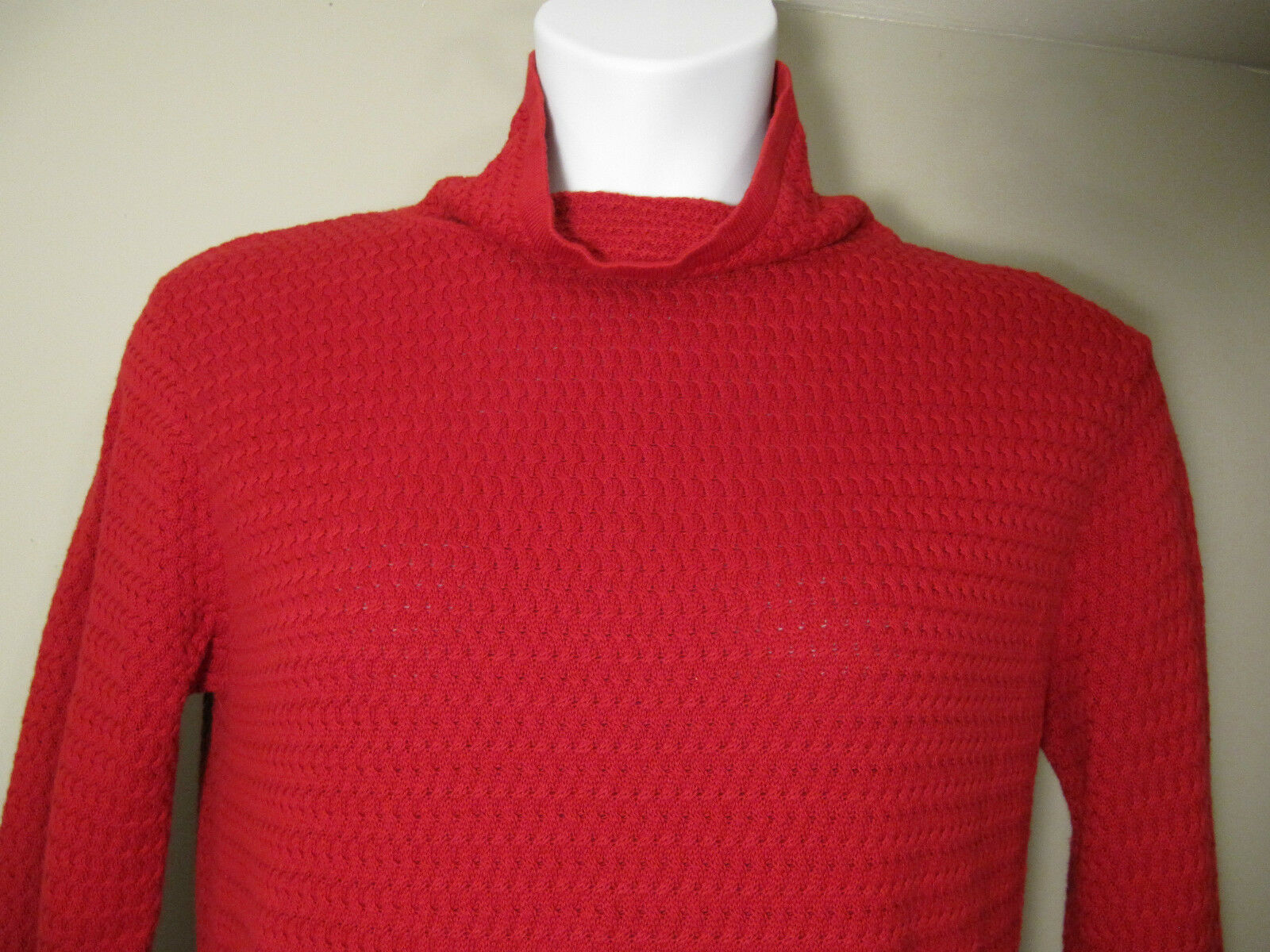 COLDWATER CREEK Women's Red Long Sleeve Sweater Size M Cotton ...