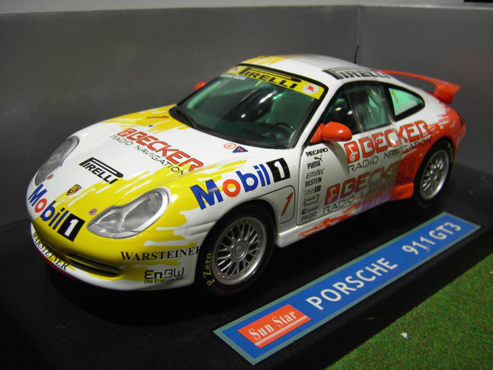 PORSCHE 911 GT3 type 996 Circuit au 1 18 SUNSTAR SUN STAR 1292 voiture miniature