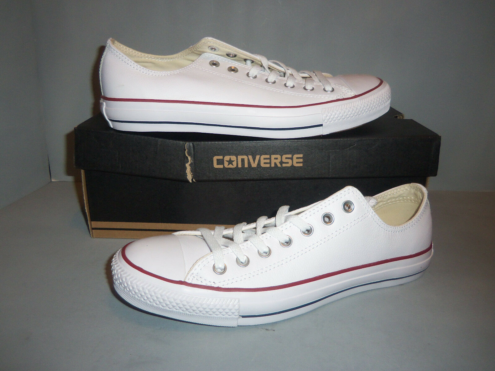 Converse Chuck Taylor Homme Tous Star Cuir OX Blanc New in