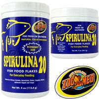 Spirulina 20 Fish Food Flake, 2 Oz. & 4 Oz; By Zoomed, Aap