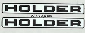 2x Holder Autocollant Pour La Verrière 28,0x3, 3 Cm Noire Police Avec Cadre S. Image-afficher Le Titre D'origine