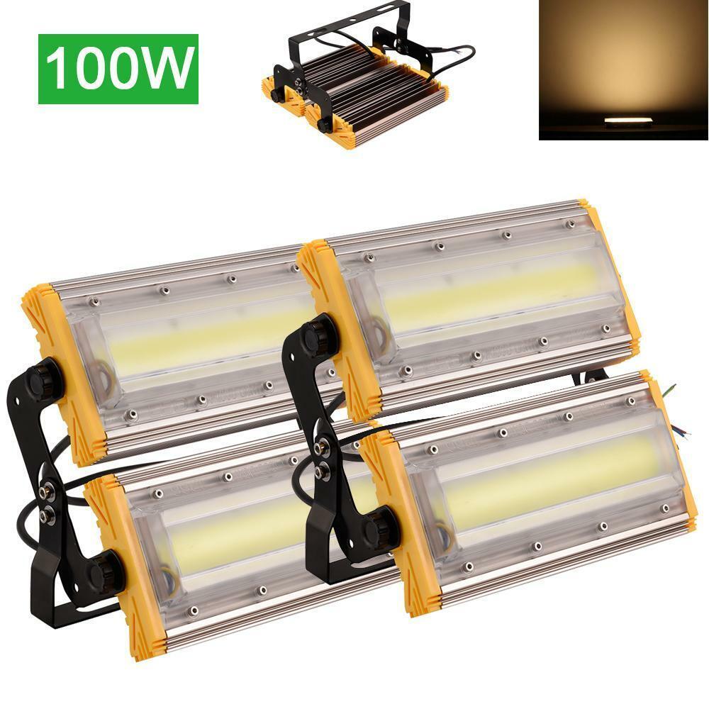 2X 100W LED Fluter Außen Flutlicht Strahler Scheinwerfer 8000Lm IP65 Warmweiß