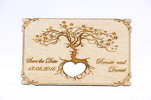 Das Bild Wird Geladen Save The Date Holz Magnet Hochzeit Einladung Hochzeit