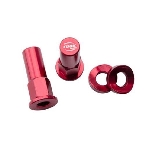 Tusk Rim Lock Nut Spacer Kit Set Red HONDA YAMAHA KAWASAKI SUZUKI MX Enduro