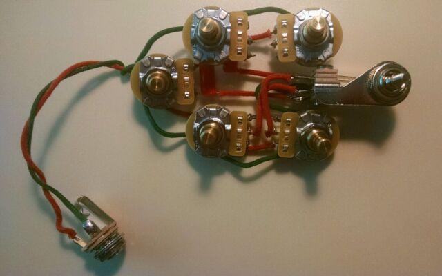 s l640 rickenbacker 340 370 350sh 3 pickup guitar 5 control wiring harness