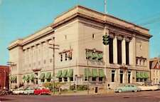 Huntington West Virginia City Hall Street View Vintage Postcard K35844