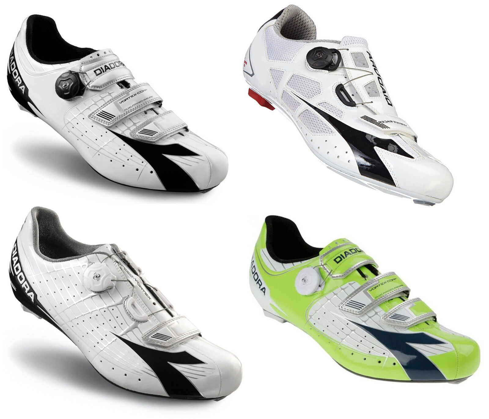 DIADORA Road Vortex COMP Speed Racer Fahrradschuhe MTB Gr. 41-46 Rennrad Schuhe