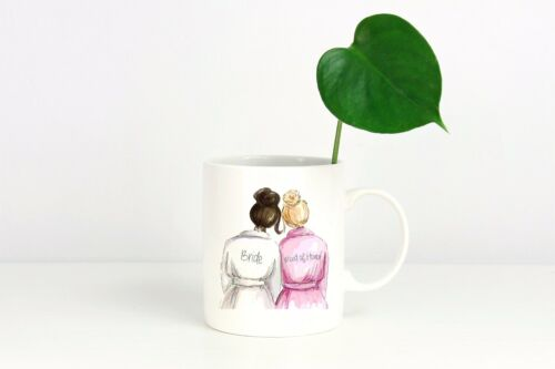 Coffee Mug Bride and Maid of Honor Wedding//Bridal Shower//Engagement Gifts