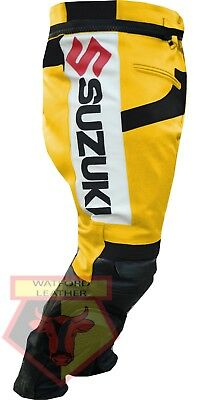 Pants Conscientious Suzuki Gsx Yellow Motorbike Motorcycle Cowhide Leather Armoured Pant/trouser Be Novel In Design Motorcycle Street Gear