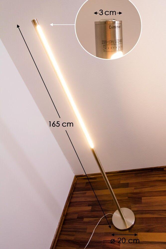 LED Piantana lampada a stelo design moderno metallo nichel opaco acrilico 129213