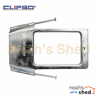 25 x Clipso Stud Wall Plate Horizontal Vertical Mounting Bracket With Nails