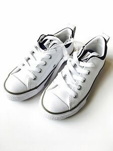 bb53f8dd0ab0 Converse Chuck Taylor All Star Street OX White Leather Youth Shoes ...