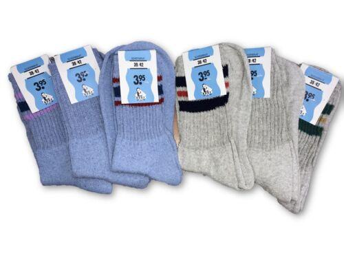 3 Paia Grigio o Blu Adulti//Bambini Caldo resistente forte di tutti i giorni Calze