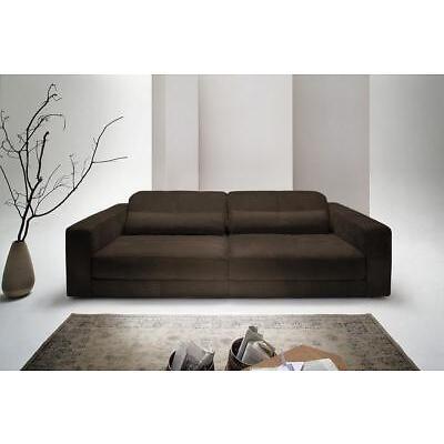 Sofa Ledersofa GIGANT 3,5 Sitzer inkl. 2 Kissen Leder Toro anthrazit