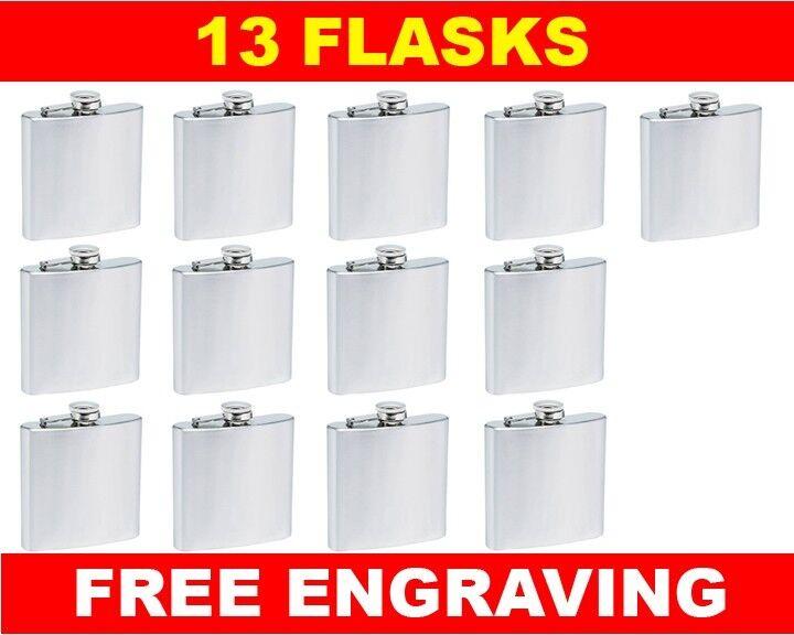13 Personalized Flasks 6oz groomsmen usher Beste man bridesmaid engraved gift
