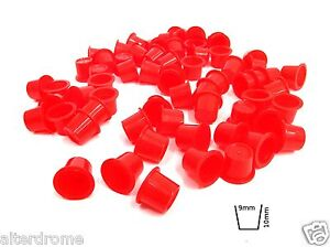 1000 x BULK BUY PACK Red TATTOO Ink Cups Caps POTS All Sizes Within