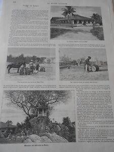 1899 Article De Presse Voyage En Annam Phan-tiet Tama Tam Long-dien éGouttage