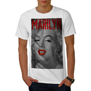 Wellcoda-Marilyn-Retro-Photo-Mens-T-shirt-Urban-Graphic-Design-Printed-Tee